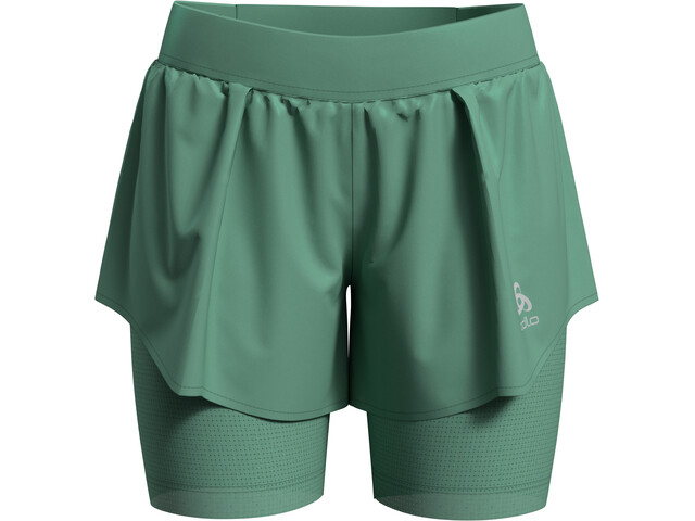 Odlo Zeroweight Ceramicool PRO 2-in-1 Shorts Dame creme de menthe